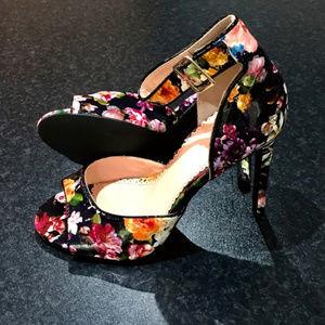 Floral Peep Toe Heels 8
